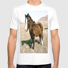 Mini Horse Mens Fitted Tee White MEDIUM