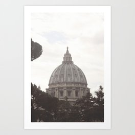 Color St. Peter's Basilica, vatican city Art Print