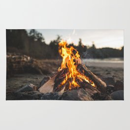 Campfires along the Coast Rug