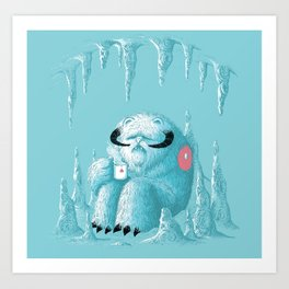somewhere on the ice planet Art Print
