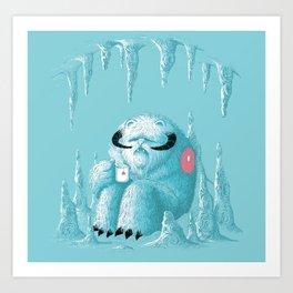 somewhere on the ice planet Art Print