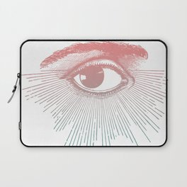 I See You. Pink Turquoise Gradient Sunburst Laptop Sleeve