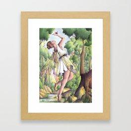 Dancing fairy Framed Art Print