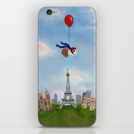 Guinea Pig With Balloon Over Paris, France iPhone Skin