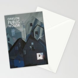 Oregon Public House Poster - 6 Stationery Cards