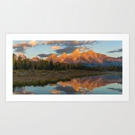 Sunrise On The Snake River Art Print