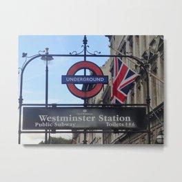 London - Going Underground Metal Print