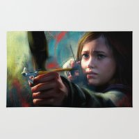 the last of us Area & Throw Rugs featuring The Last Of Us: Ellie by Kate Dunn