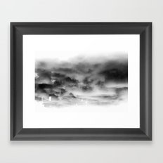 Before the storm Framed Art Print