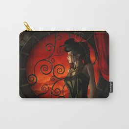 Steampunk, wonderful steampunk lady in the night Carry-All Pouch