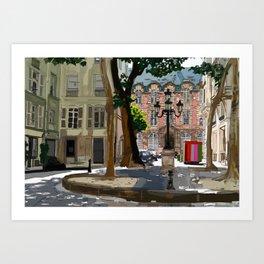 Place de Füstemberg. Paris Art Print