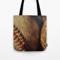 baseball Tote Bags featuring Baseball by Chee Sim
