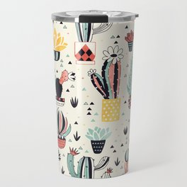 Cacti in a Flower Pot Travel Mug