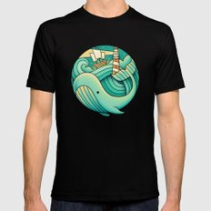 Into the Ocean MEDIUM Black Mens Fitted Tee