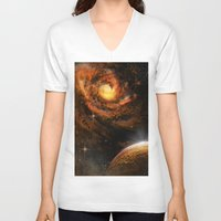 universe V-neck T-shirts featuring Universe by nicky2342