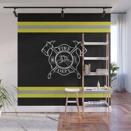 Firefighter - Turnout Gear - Maltese Cross Wall Mural