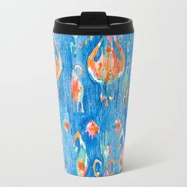electric blue balinese ikat mini Travel Mug
