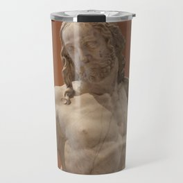 Louvre Statue Jesus Travel Mug