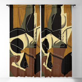 """Juan Gris """"Moulin à café et bouteille ( Coffee grinder and bottle)"""" Blackout Curtain"""