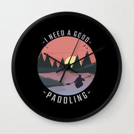 Kayaking Kayak Paddling Wall Clock