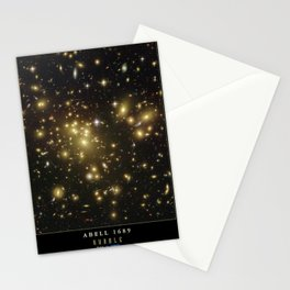 NASA Hubble Space Telescope Poster - Abell 1689 Stationery Cards