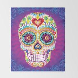 Sugar Skull Art (Luminesce) Throw Blanket