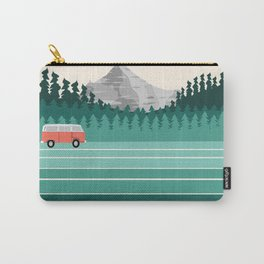 Oregon - retro throwback 70s vibes travel poster van life vacation mountains to sea Carry-All Pouch