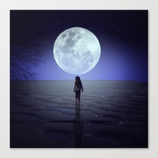 Moon alk Canvas Print