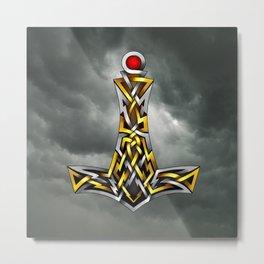 Thor's Hammer Mjolnir Metal Print