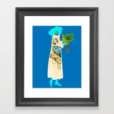 Bird Coat Blue Framed Art Print