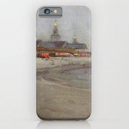 Narragansett Beach, Narragansett, Rhode Island Landscape by Hugo August Bernhard Breul iPhone Case
