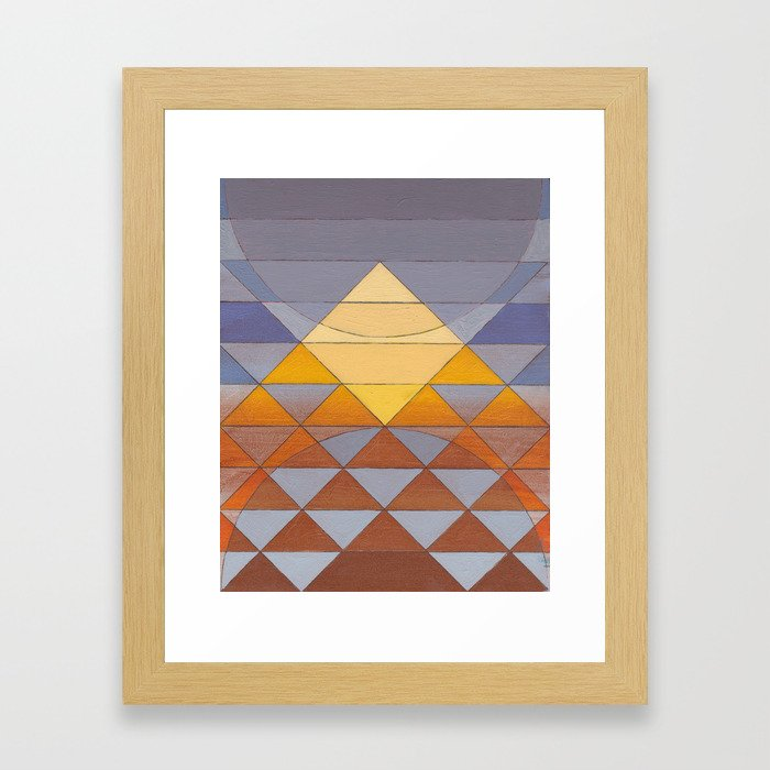 Pyramid Sun Mauve Purple Framed Art Print