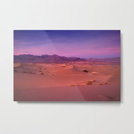 Mesquite Dunes Sunset Metal Print