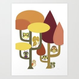 More Than a Hoot in the Mid Century Modern Woods Art Print