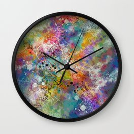 PAINT STAINED ABSTRACT Wall Clock