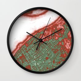 Sanlucar de Barrameda city map pop Wall Clock