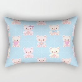 Cute Teddy Bear Seamless Vector Pattern Design Rectangular Pillow