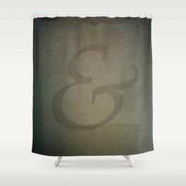 Palatino Ampersand Shower Curtain