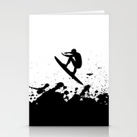 surfer Stationery Cards featuring Surfer by Emir Simsek