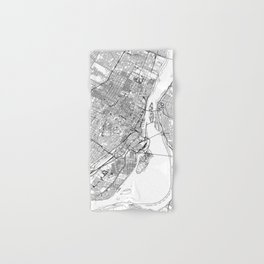 Montreal White Map Hand & Bath Towel