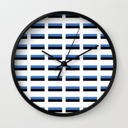 Flag of estonia -estonian,baltic,tallinn,tartu,eesti,balti,slav,viking,baltico,parnu Wall Clock