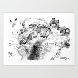 Au-Delà du Terminus / Beyond the End Station Art Print