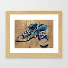 Blue Shoes Framed Art Print