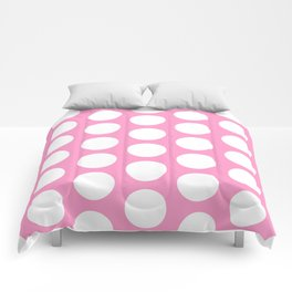 White circles on pink Comforters