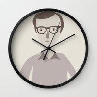 woody Wall Clocks featuring Woody by Judy Kaufmann