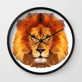 Geometric Lion Wall Clock