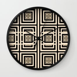Xingu Pattern Wall Clock
