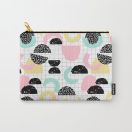 Pretty Much - abstract minimal memphis 80s style retro throwback grid pattern design Carry-All Pouch