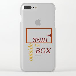 Outside the box. Clear iPhone Case