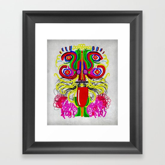Maya lion Framed Art Print